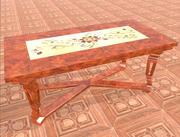 Люкс Стол деревянный 3d model