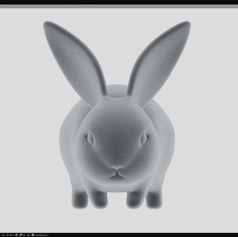 Baby Rabbit - Little Baguette royalty-free 3d model - Preview no. 2