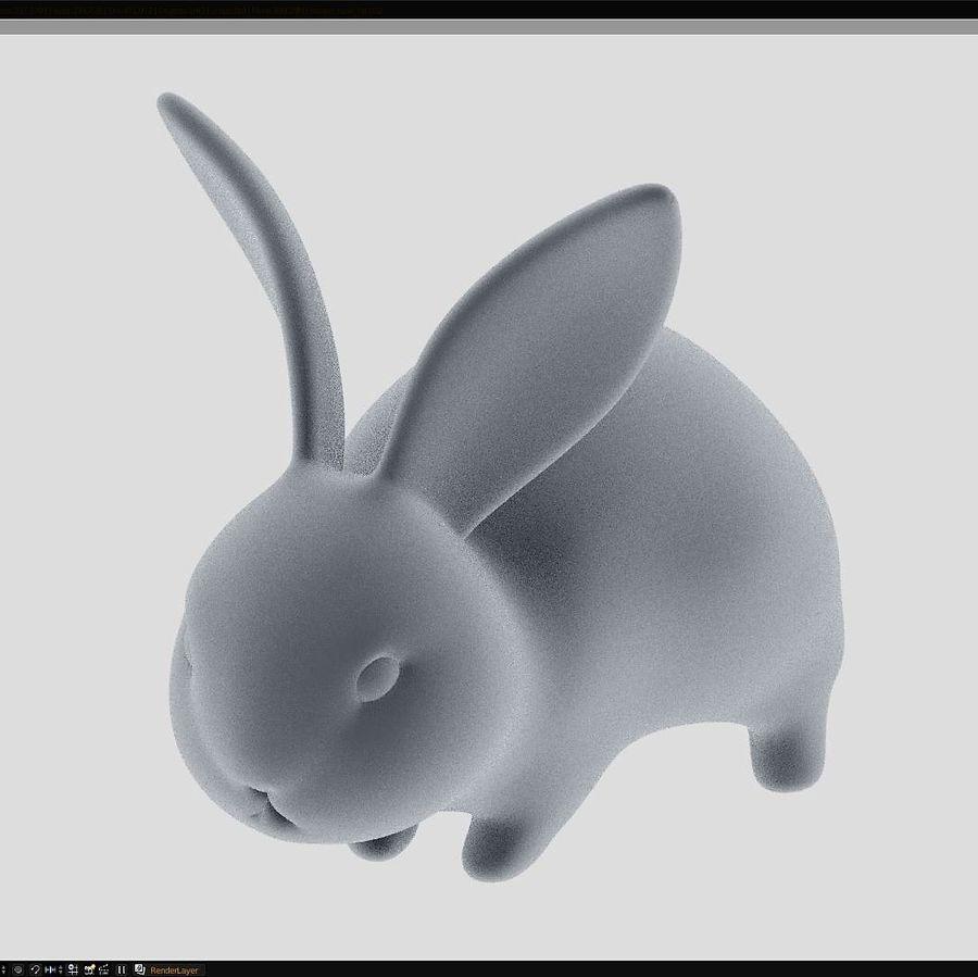 Baby Rabbit - Little Baguette royalty-free 3d model - Preview no. 1