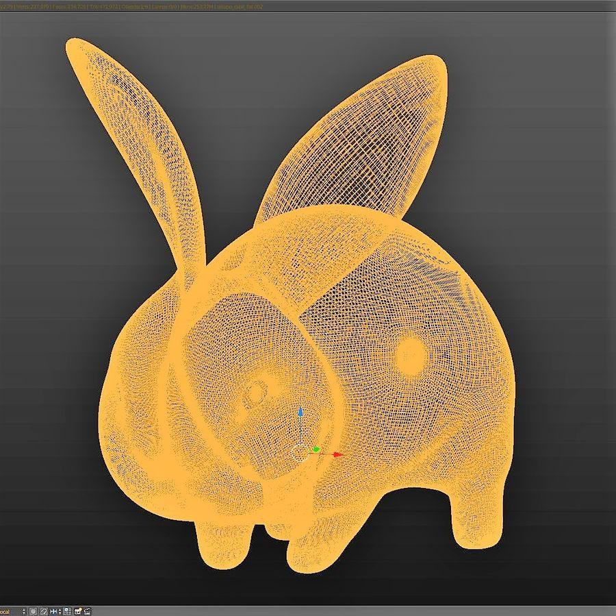 Baby Rabbit - Little Baguette royalty-free 3d model - Preview no. 5