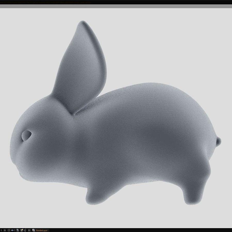 Baby Rabbit - Little Baguette royalty-free 3d model - Preview no. 3