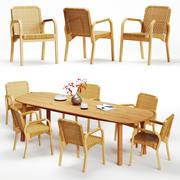 Artek Alvar Aalto - Fauteuil 45 et Table Mbrace 3d model