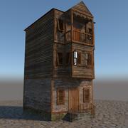 Stary drewniany dom 2 3d model