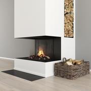 暖炉と薪32 3d model