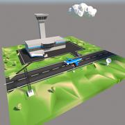 Luchthaven Cartoon 3d model