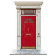 Ingång klassisk dörr 06 3d model