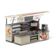 Cafe Stall 3D Model 3d model