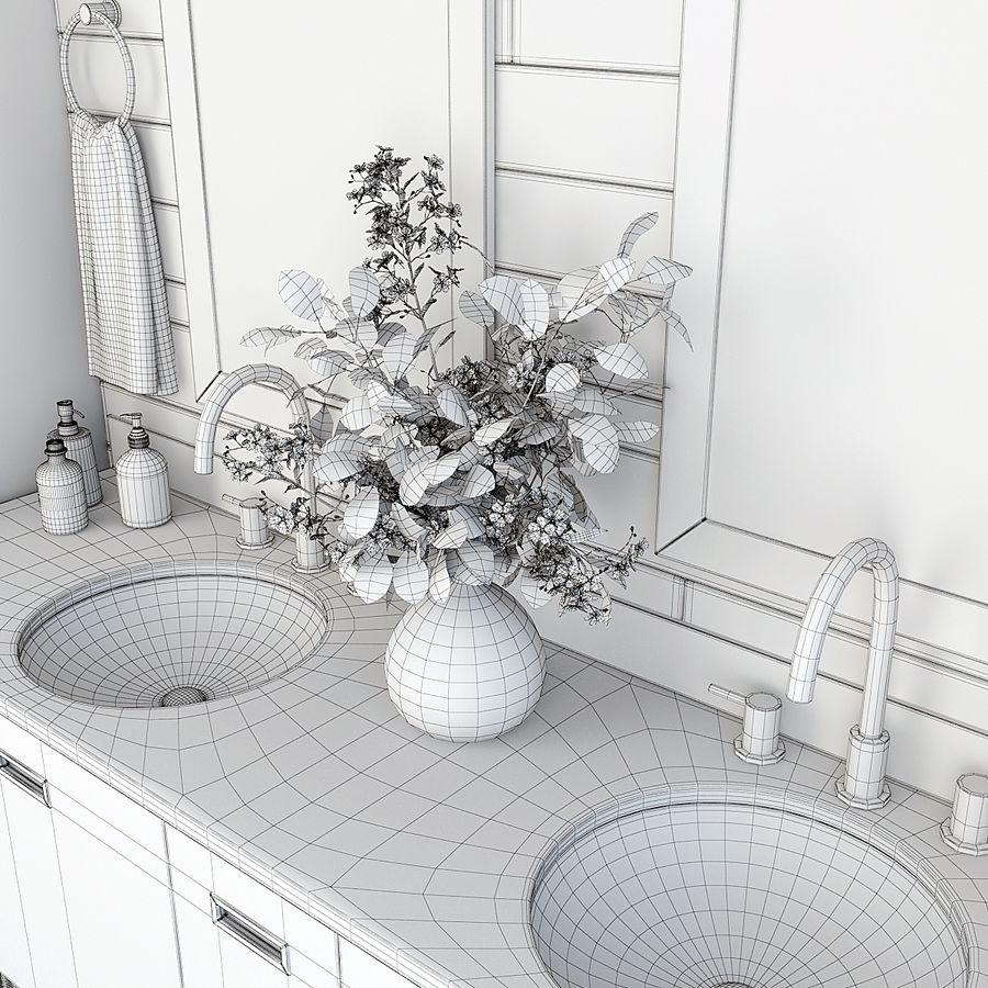 Meubilair en inrichting voor badkamers 11 royalty-free 3d model - Preview no. 9