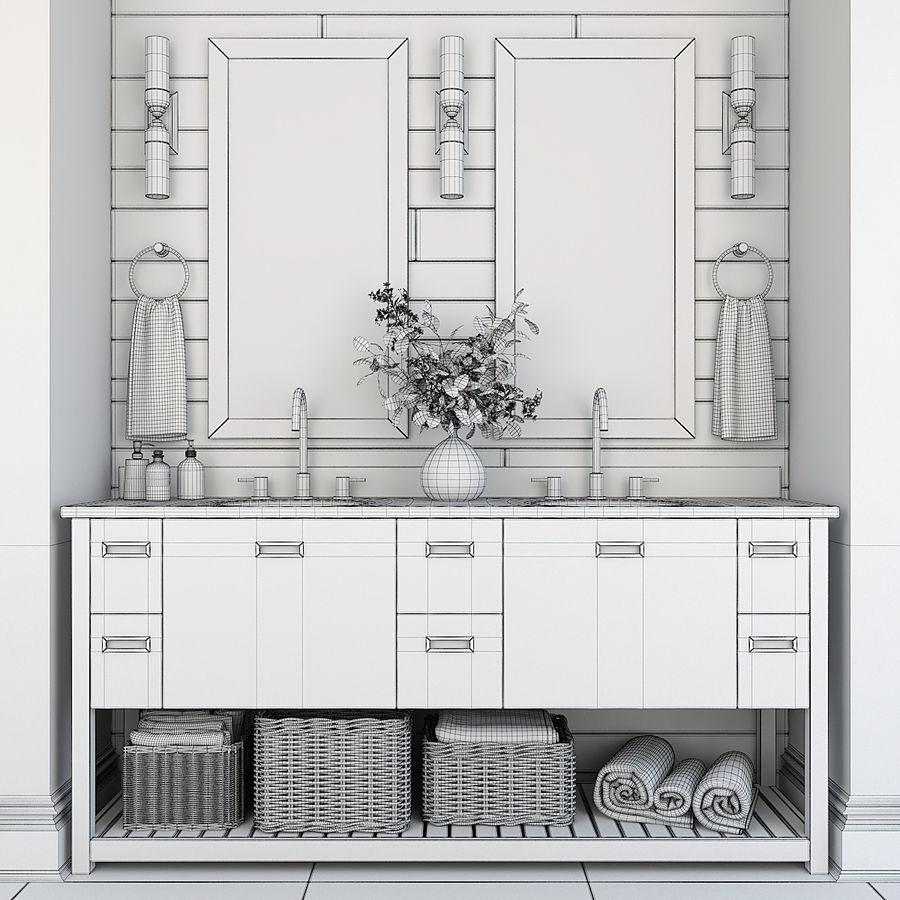 Meubilair en inrichting voor badkamers 11 royalty-free 3d model - Preview no. 8