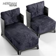 Китон кресло и шезлонг 3d model