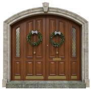 Ingång klassisk dörr 05 3d model