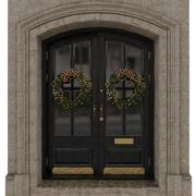 Ingång klassisk dörr 07 3d model