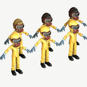 Hazmat Suit Girl 3d model