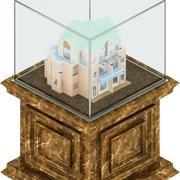 Szklana gablota 3d model