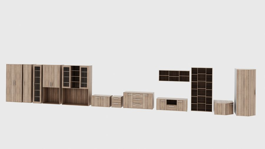 Woonkamer meubels royalty-free 3d model - Preview no. 1