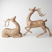 鹿の像 3d model