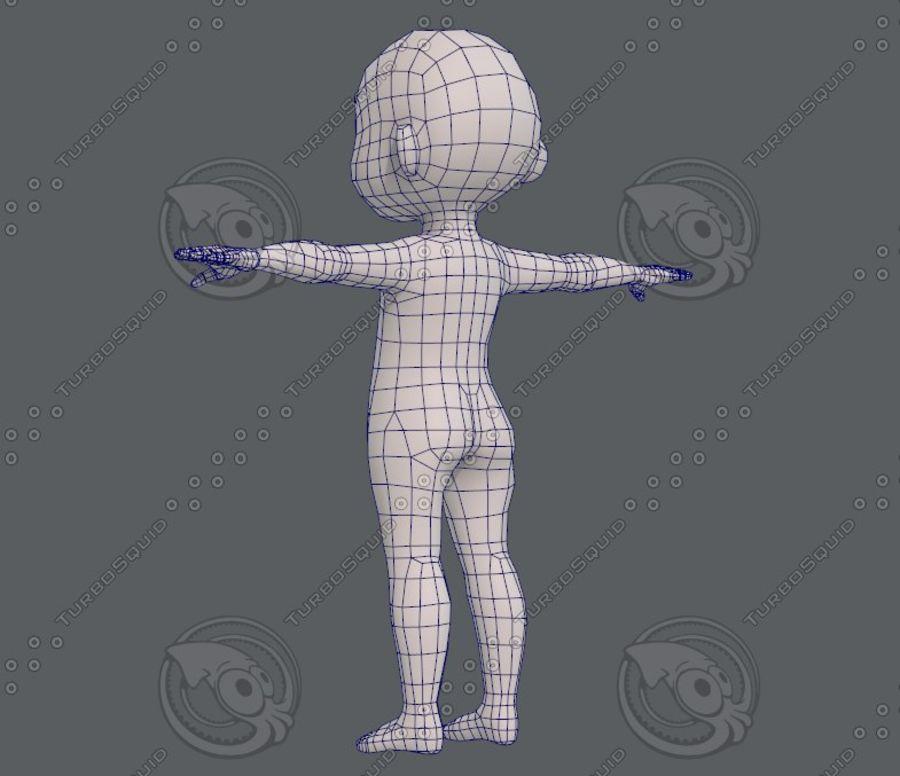 Base mesh boy character V08 royalty-free 3d model - Preview no. 15