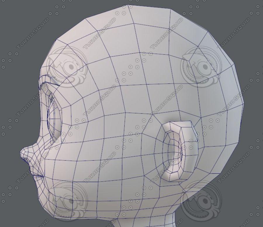 Base mesh boy character V08 royalty-free 3d model - Preview no. 41