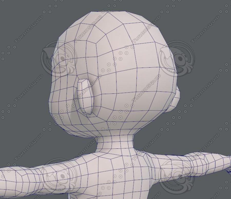 Base mesh boy character V08 royalty-free 3d model - Preview no. 31