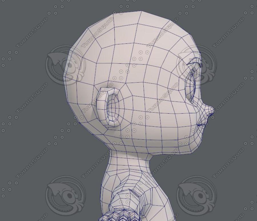 Base mesh boy character V08 royalty-free 3d model - Preview no. 28