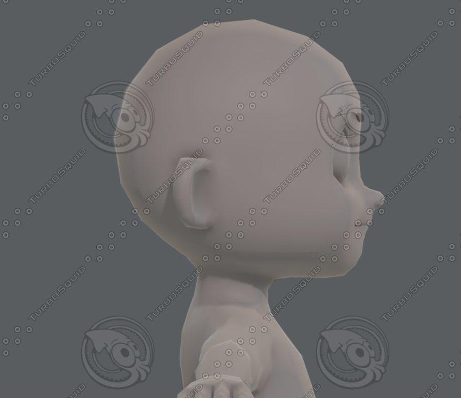 Base mesh boy character V08 royalty-free 3d model - Preview no. 20
