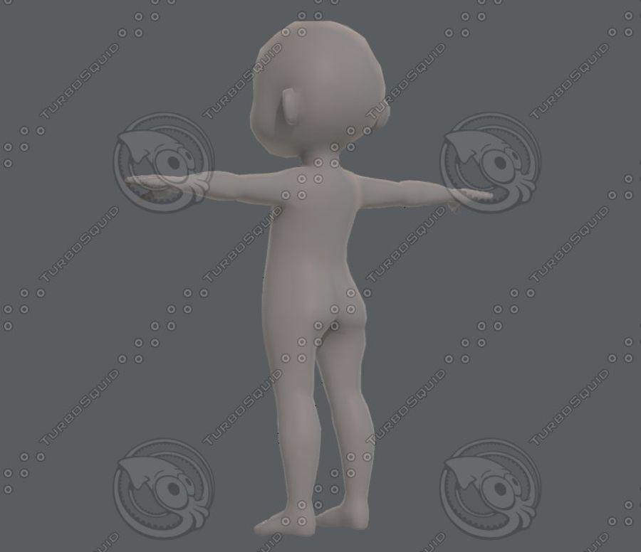 Base mesh boy character V08 royalty-free 3d model - Preview no. 7