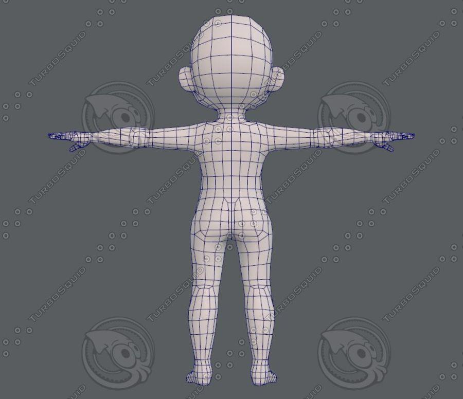 Base mesh boy character V08 royalty-free 3d model - Preview no. 14