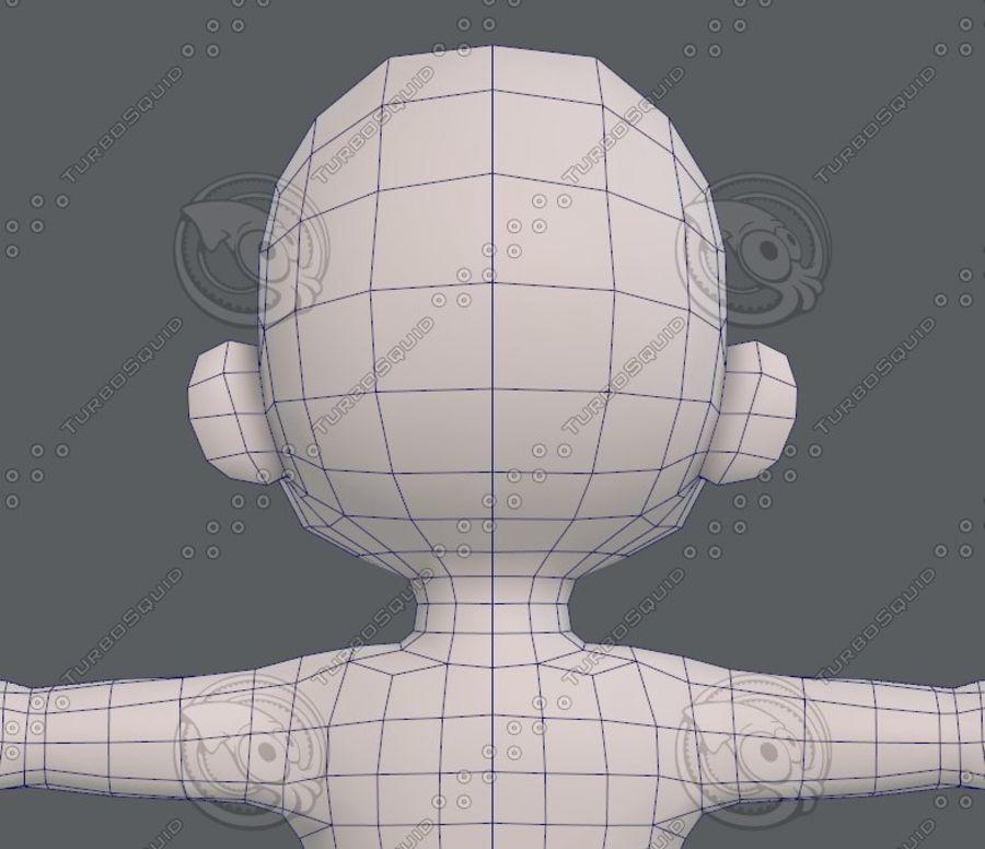 Base mesh boy character V08 royalty-free 3d model - Preview no. 30