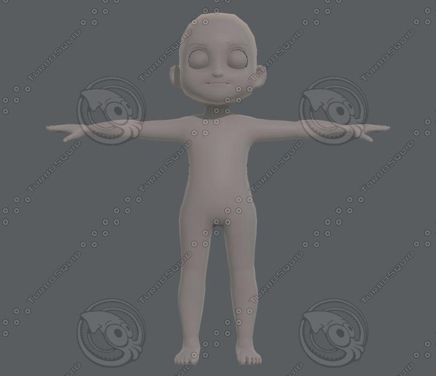 Base mesh boy character V08 royalty-free 3d model - Preview no. 2