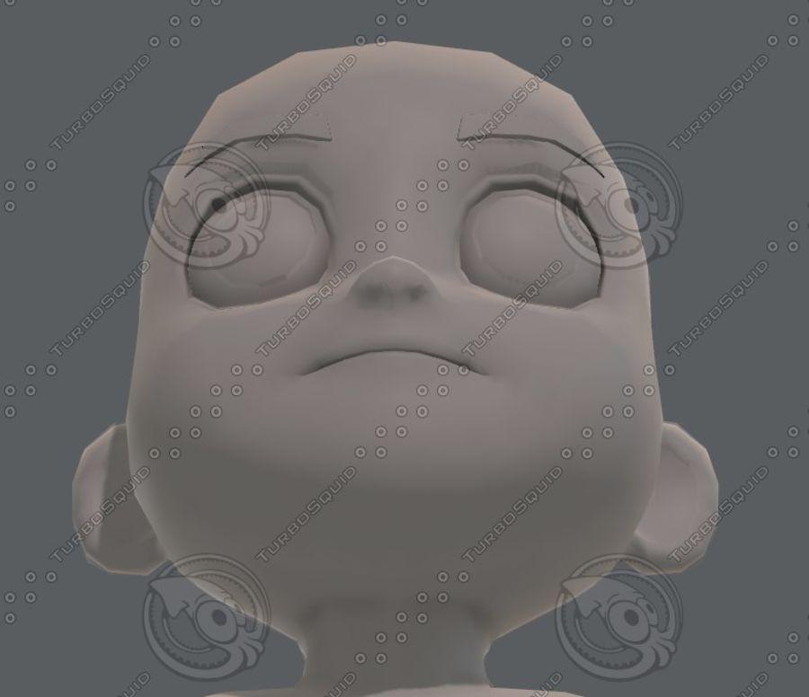 Base mesh boy character V08 royalty-free 3d model - Preview no. 44