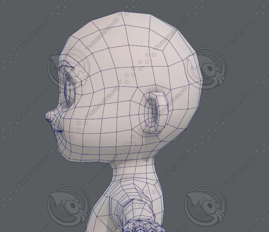 Base mesh boy character V08 royalty-free 3d model - Preview no. 32