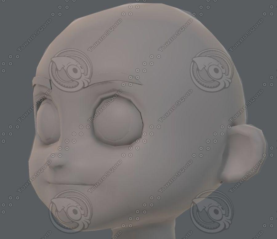 Base mesh boy character V08 royalty-free 3d model - Preview no. 38
