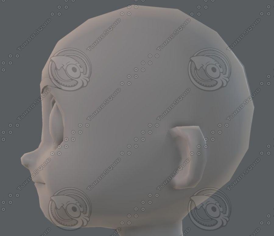 Base mesh boy character V08 royalty-free 3d model - Preview no. 40