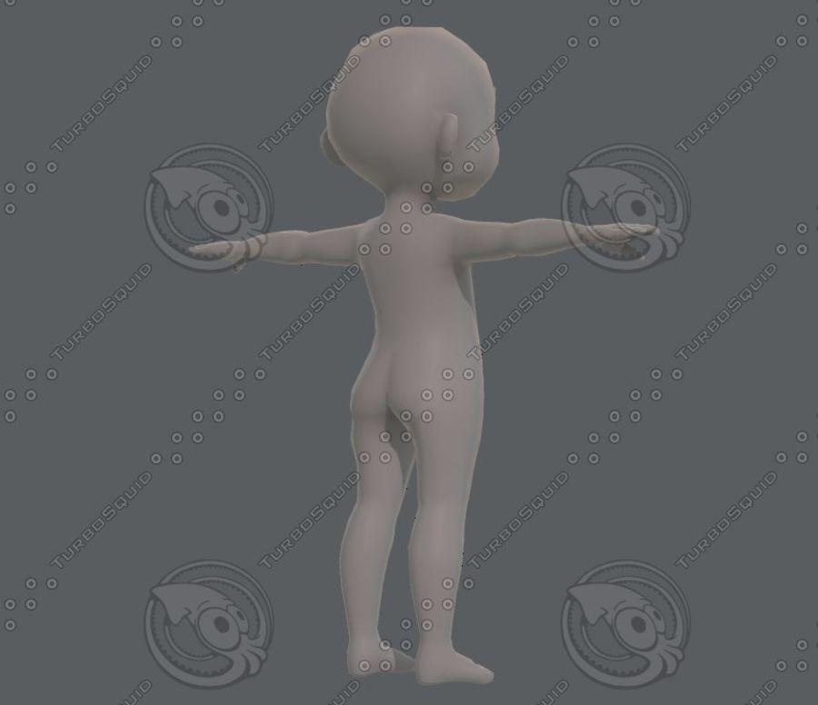 Base mesh boy character V08 royalty-free 3d model - Preview no. 5