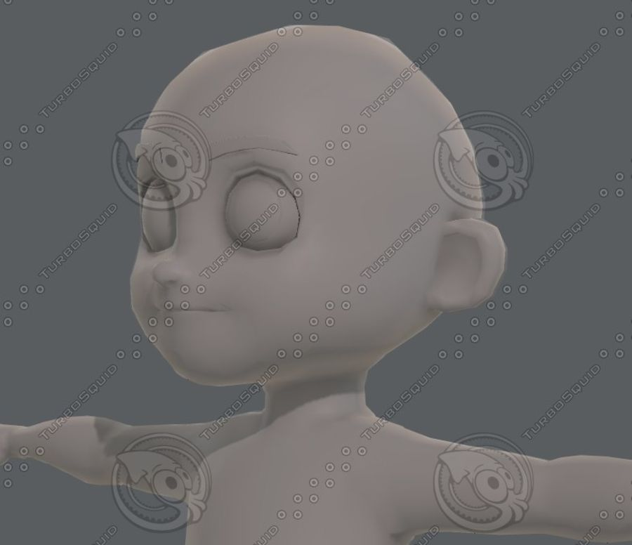 Base mesh boy character V08 royalty-free 3d model - Preview no. 25
