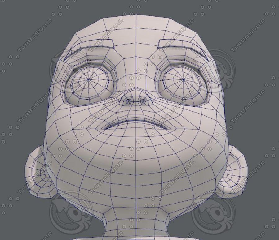 Base mesh boy character V08 royalty-free 3d model - Preview no. 45