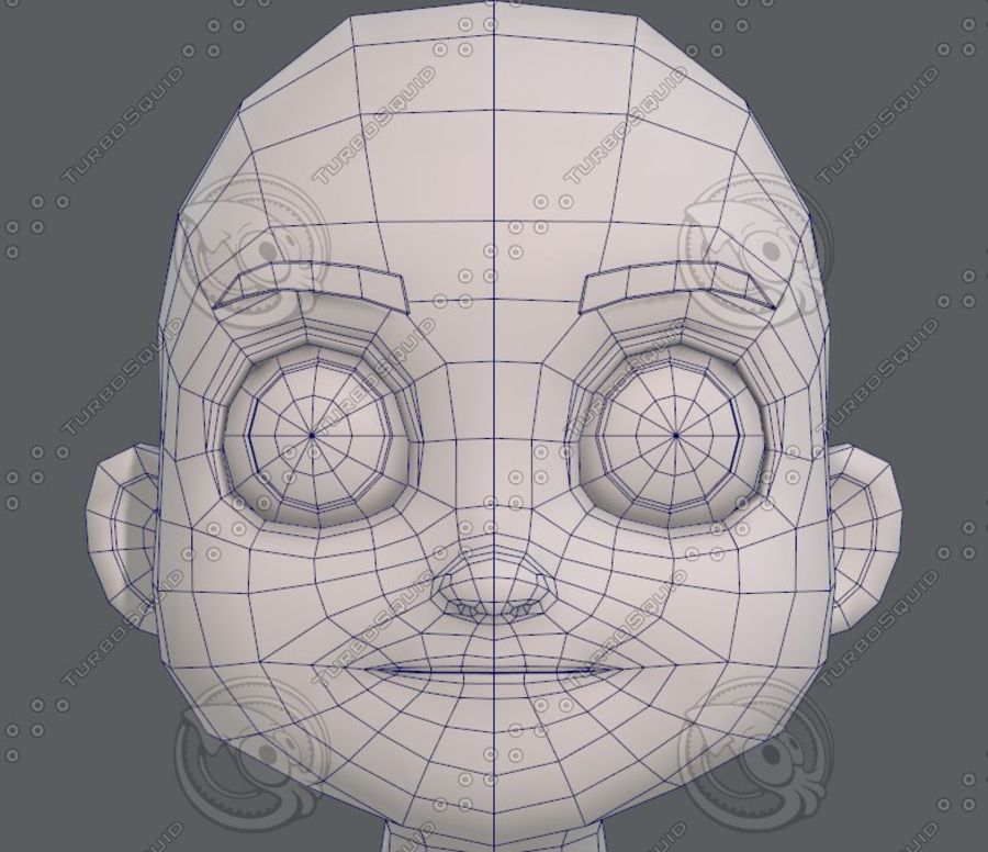 Base mesh boy character V08 royalty-free 3d model - Preview no. 37