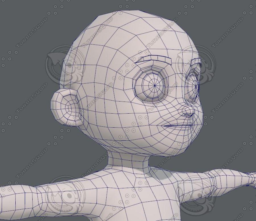 Base mesh boy character V08 royalty-free 3d model - Preview no. 27
