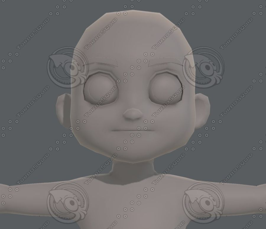 Base mesh boy character V08 royalty-free 3d model - Preview no. 18