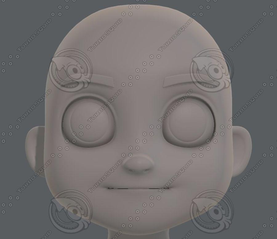 Base mesh boy character V08 royalty-free 3d model - Preview no. 34
