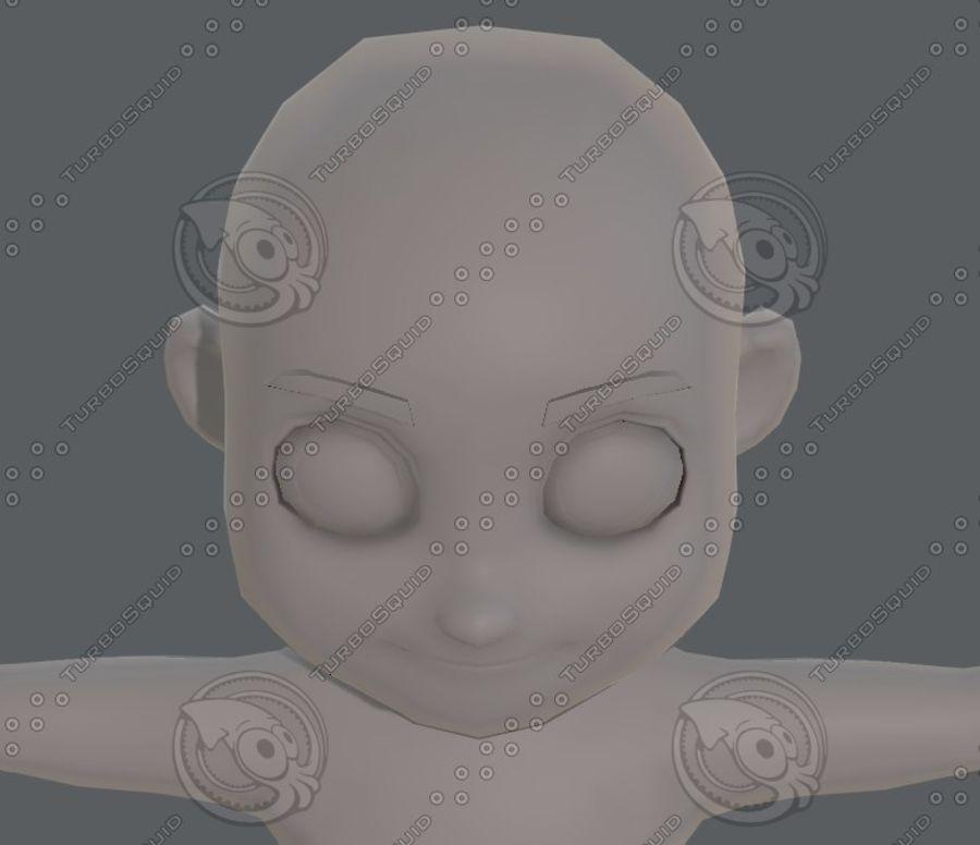 Base mesh boy character V08 royalty-free 3d model - Preview no. 42