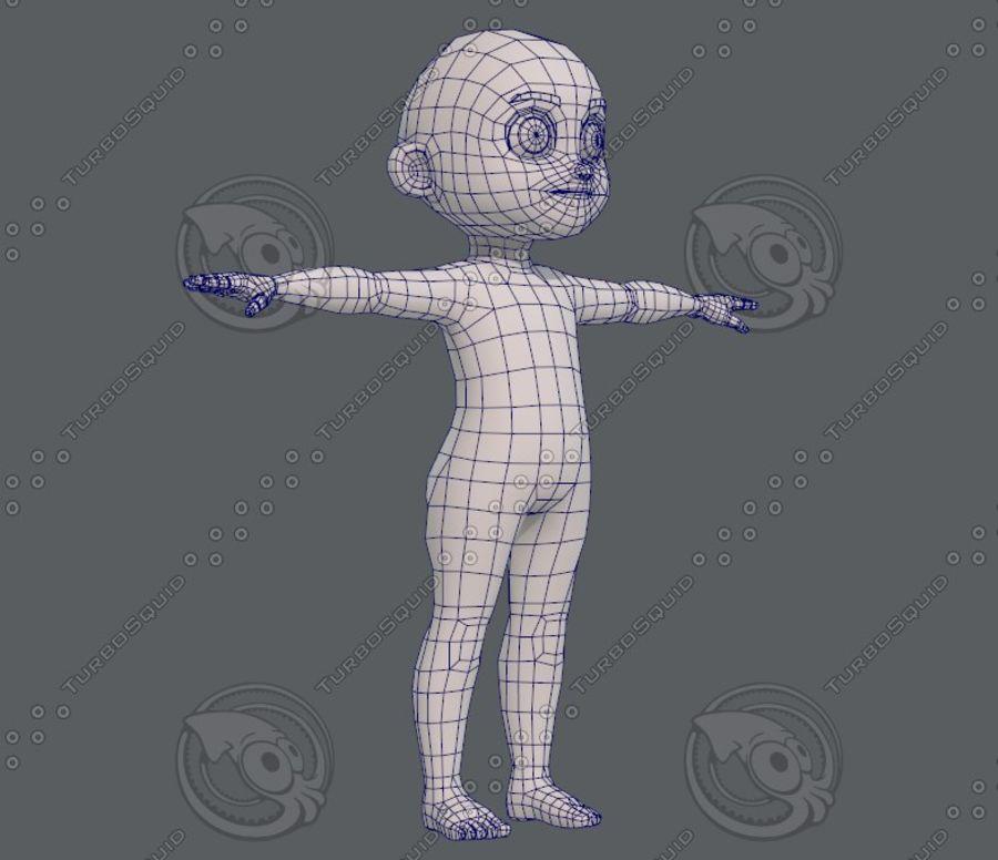 Base mesh boy character V08 royalty-free 3d model - Preview no. 11