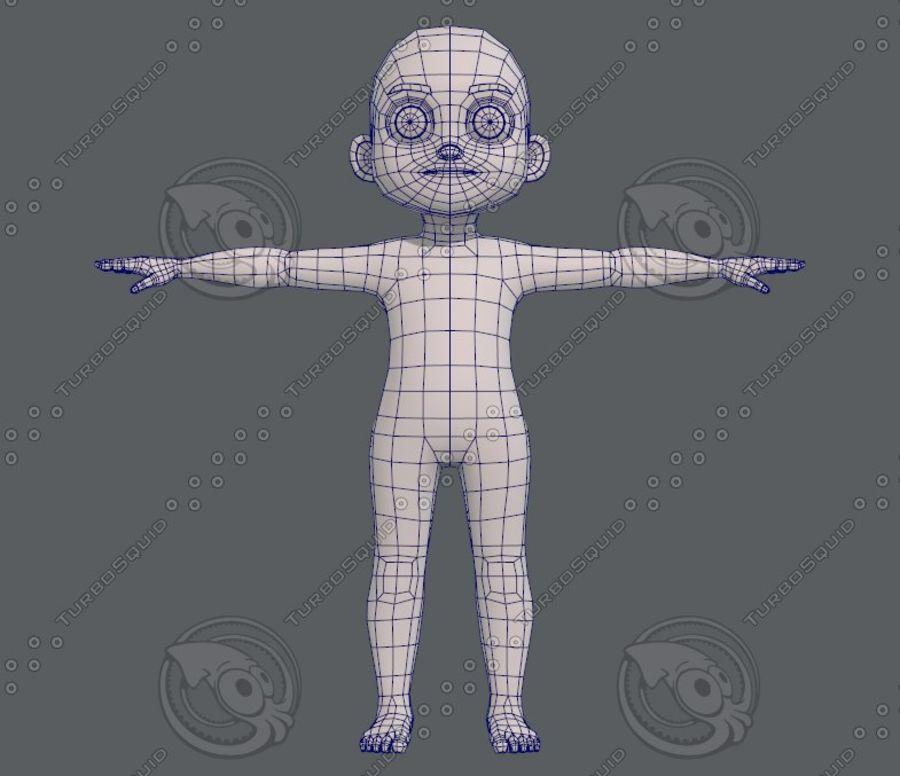 Base mesh boy character V08 royalty-free 3d model - Preview no. 10