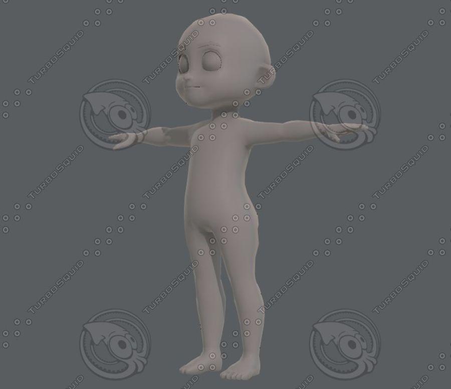 Base mesh boy character V08 royalty-free 3d model - Preview no. 9