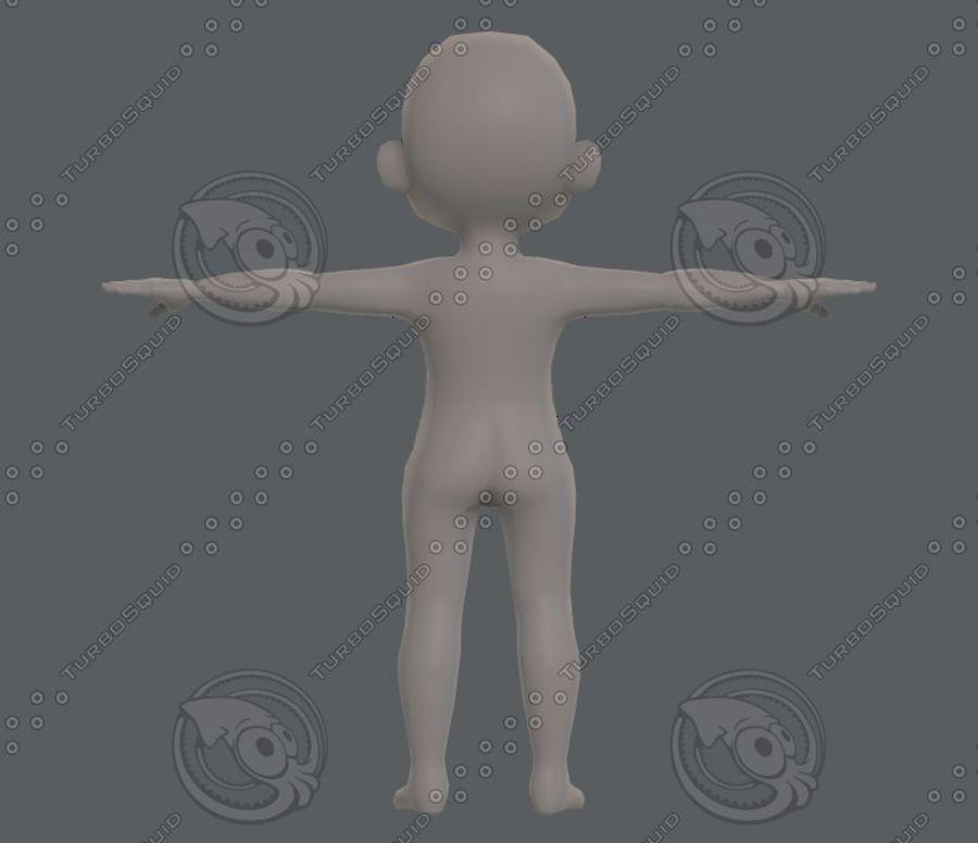 Base mesh boy character V08 royalty-free 3d model - Preview no. 6