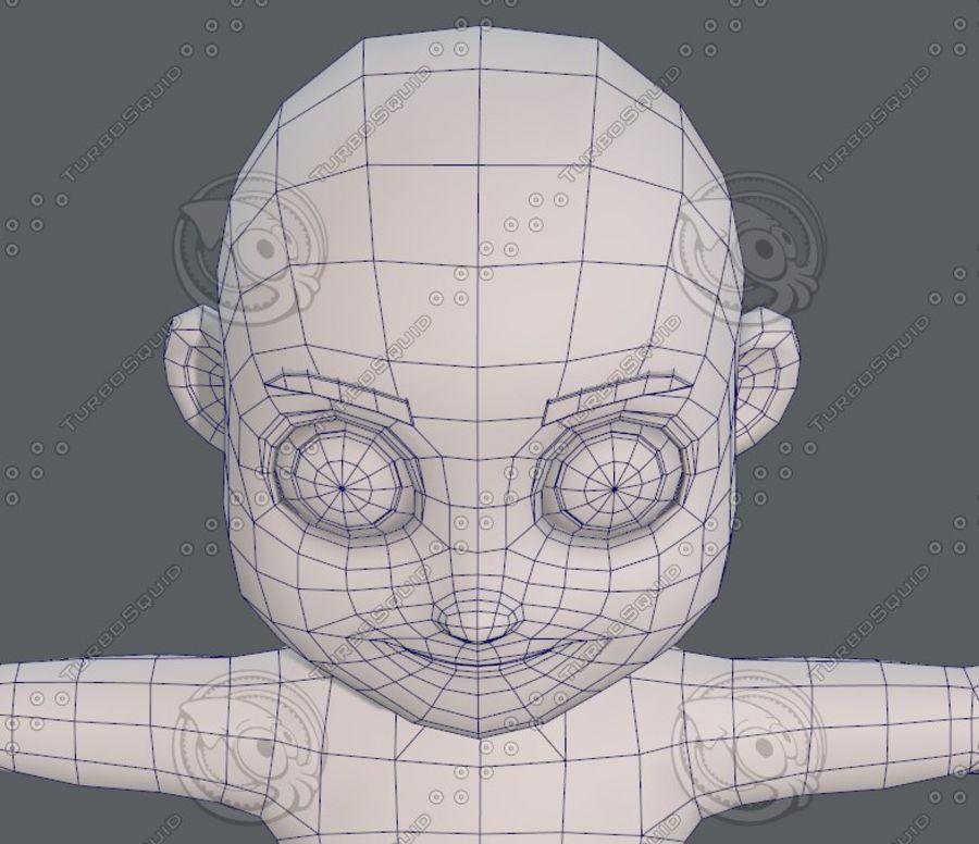 Base mesh boy character V08 royalty-free 3d model - Preview no. 43