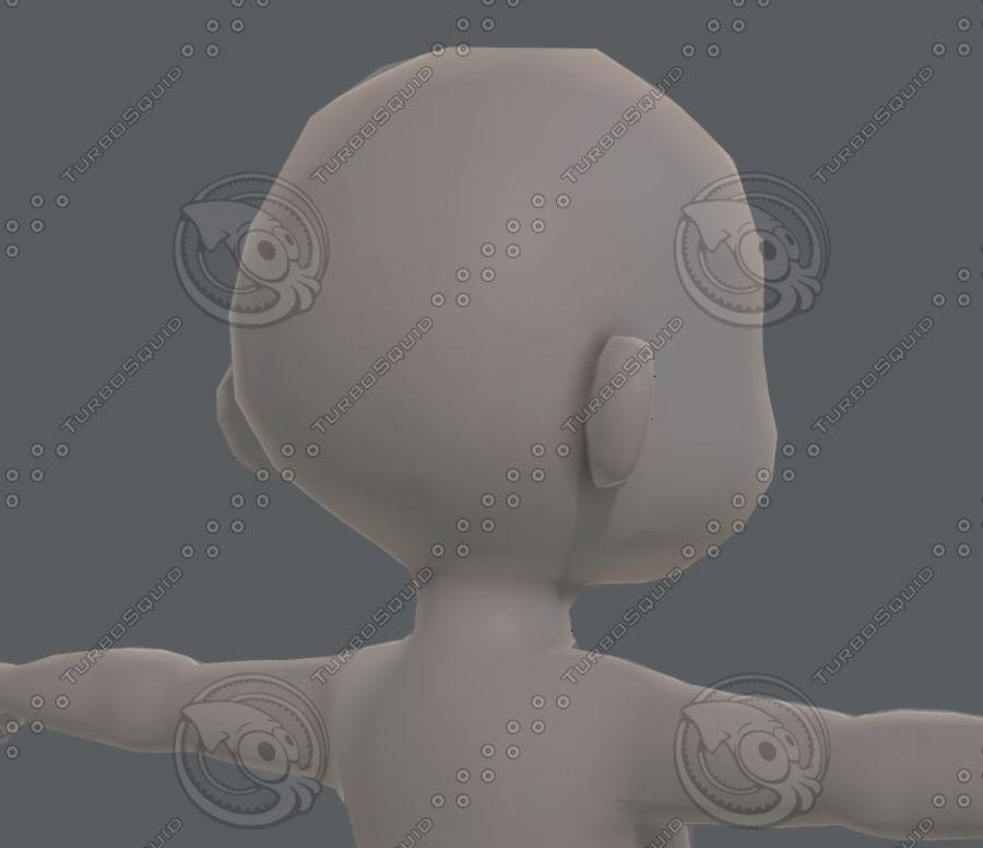 Base mesh boy character V08 royalty-free 3d model - Preview no. 21