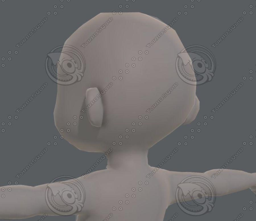 Base mesh boy character V08 royalty-free 3d model - Preview no. 23