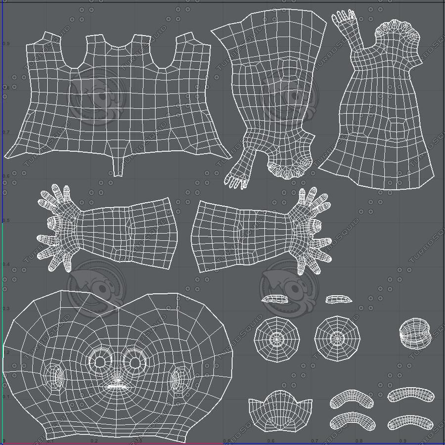 Base mesh boy character V08 royalty-free 3d model - Preview no. 46