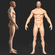 3D Rigged Male Muscular GAME BEREIT Modell 3d model